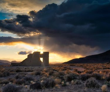 As the sun sets on Nevada's Fort Churchill, a military outpost built in 1861, a ray of hope slices through the storm clouds and carves its way through a window and wall that create the outline of Nevada. Honestly, I didn't see this when I first shot it. I took three steps to the right, grabbed another frame, pulled it up on the viewfinder, and was blown away by serendipity's ability to send along a promising metaphor for the times.  #dfmi #travelnevada #mypubliclands #landscapephotographymagazine #westbysouthwest #visitrenotahoe #civilwarforts #roadsideamerica #hwy50 #roadtripusa #americanlandscape #nevada #sunrise_and_sunsets #westernusa ##adventure #ourdailyplanet #earthscope #ontheroad