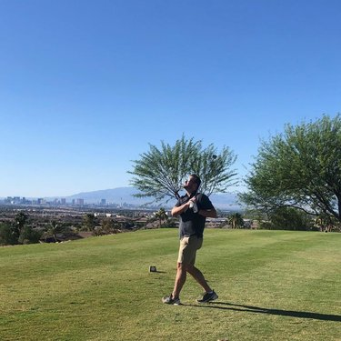 """""""I think I've found my new favorite course"""", this guest said as he watched his shot land on #12! We agree! #golfriosecco #lasvegasgolf #stripviews #desertgolf #reesjones #beautifulday"""