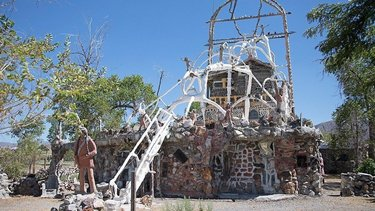 There's a mysterious monument beckoning travelers off Interstate 80 – and it's way worth the detour. ♻️⛰🖼 ••• Next time you find yourself on the road between Lovelock and Winnemucca (or more specifically, in Imlay), park it at Thunder Mountain, an unconventional sculpture garden built by hand with decades of found objects. With hundreds of statues and objects surrounding the three-story structure, it's a veritable feast for the eyeballs. 👀 #TravelNevada #WeirdNevada