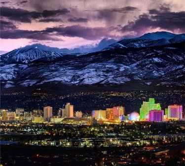 The Biggest Little City never fails to impress! From the best sunsets over snowy mountains, to city lights that shine so bright - this is Reno ✨  📸: sheehan_creative  #getawaytohere #getawayrt #renonevada #renotahoe #sparksnevada #carsoncity #carsoncitynevada #carsonvalley #travel #travelnevada #tahoe #laketahoe #tahoecity #northlaketahoe #southlaketahoe #truckee #truckeecalifornia #visitcalifornia #renoisrad
