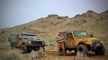 My XJ and Dad's Wrangler taking the very muddy trail down Duffer Peak last May. I'll only be going back here in late summer cuz that was some stressful, steep and snowy wheelin'! #exploretocreate #howtonevada #adventureon #picoftheday #naturegram #naturalnevada #onlyinnevada#girlswhoexplore #howtonevada #exploretocreate #nevadaisboring #dfmi #renoinstagrammys #jeepgirl #jeepxj #jeeplife #nevada #offroad
