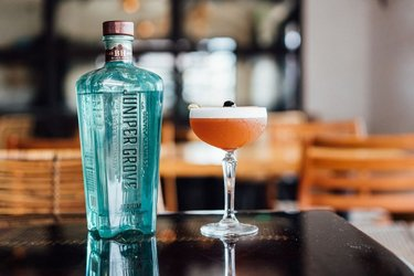 New week, new pour. Check out this must try cocktail from @tito_ortega4130. . 1.5 Oz @JuniperGroveGin Atrium 0.5 Oz Green Chartreuse 0.5 Oz Cedilla Acai Liqueur 1 oz Lime 0.5 Luxardo Maraschino Spray of Absinthe Fee Foam Bitters Angostura Bitters  . Cheers! Make sure to tag us with your cocktails this week.