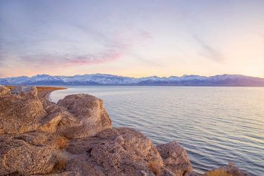 Early mornings with @travelnevada & @discovery on Pyramid Lake.