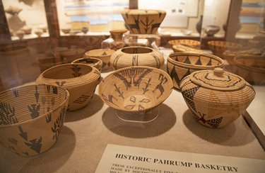 From behind closed doors: Lost City Museum has a great collection of baskets. When school groups come, we ask students to find butterfly designs in the baskets. Besides butterflies, there are other cool shapes and designs. Which ones stand out to you? Photo credit #travelnevada https://t.co/6aKBJCbNkI
