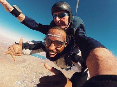 #Repost @_imcountry ・・・ Booking a random skydiving trip is the highlight of my black history month! When you're 20,000 feet up in the air, everything feels different. #soultravel #blackboyjoy #blackboystravel • •  #travel #trip #vacay #vacation #adventure #earthfocus #lasvegasstrip #lasvegasbound #bts #nofilter #vegas #lasvegas #skydive #skydiving #adventure #earthfocus #skydiver #lasvegasstrip #skydivinggram #skydivingfamily #bucketlistcheck  #vegasbound #vegasready #vegasbaby