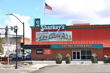 Sharkeys Casino is open for business!  #DiscoverDowntown #MainStreetGardnerville #SupportLocalBusiness #SmallTownUSA #Nevada #Gardnerville #MainStreetEvents #Minden #CarsonCity #Genoa #CarsonValleyChamber #CarsonValley #MainStreetUSA #HistoricTown #MainStreet