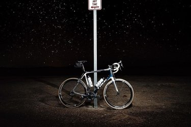 Enjoying the little light pollution while lost in Nevada. #GoByBike