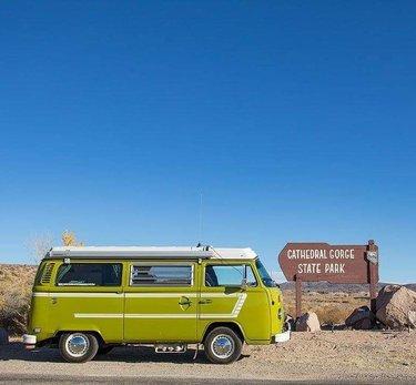 Flashback to #VWCamping in #cathedralgorge State Park, Nevada. travelnevada #DFMI . . cathedralgorge #nvstatepark #camping #ezgruv #1977westy #westfalia #westy #vw #volkswagen #vwphotographer #automotivephotography #automotivephotographer #vwphotography #ericarnoldphotography #vwscene #vwcommunity #vwlife
