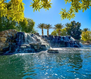 This is pretty much in my back yard! One of my favorite parks in Las Vegas! Very lucky to have some where so pretty I can just hang out when I don't have enough time for an adventure! How is everyone this week? #lasvegas #park #nevada #waterfall #aliante #selflove