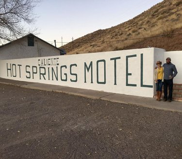 We had a nice relaxing overnight stay in caliente. #travelnevada #calientehotspringsmotel