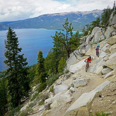Adventure is out there, you just need to go out and find it! Luckily Flume Trail Mountain Bikes has you covered to get you what you need and out on the trail, so you can see more stellar views like this one on the Tahoe Flume Trail!  Photo from IG: tambatahoe