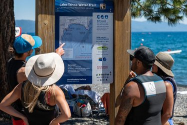 Have you been to a Lake Tahoe Water Trail trailhead? There are 20 of these trailheads around Lake Tahoe. Find them on our map & start your water adventure from one of them. These are great launch/landing sites with wayfinding signage, parking and restrooms.  Head over 👉 to the link in our profile. Pick up a LTWT map to learn all the trailheads & find lots more Pure Liquid Fun!  📸:sierra_business_council