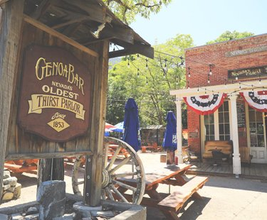 """Nevada's oldest thirst parlour"". It's old and it smells like it, but I mean that in the coolest way possible.  The place hasn't changed much (not that I'd know) and you feel a little too 'City folk-ish' if you order anything other than whiskey straight up... which I did not. Genoa, is a charming, old town nestled at the base of the East Tahoe Mountains, and a short drive from from South Lake Tahoe. A mini trip worth the detour. . . . . __________________________  #GenoaBar #GenoaSaloon #GenoaNevada #Saloon #OldestNevadaSaloon #Bar #Whiskey #Nevada #Genoa #1853 #laketahoe #tahoe"