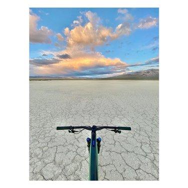 A little sunset desert bike ride last night ✨#nevada