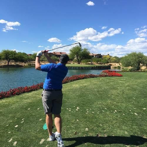 Grayhawk #17 I missed the birdie putt ?#scottsdale #az #nofilter #golf