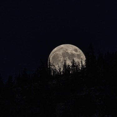 Moonrise over Diamond Peak ski resort last night, July 3rd. Which one of these do you like the best?