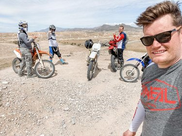 Sunday Funday exploring Apex with the boys. Just north of the Las Vegas speedway you can enjoy over 900 acres to fulfill your off road fantasy's. From sand dunes to trails this area is used for competitive races, training, and other recreational uses. Just another one of the amazing things Vegas has to offer.  #offroad#dirtbike#drz#dr350#enduro#lasvegasoffroad#bikerboys#12oclockboys #vegaslocals#movetovegas#vegasoffroad#vegasracing#desertlife#drylakebed#vintageracing #worcsracing #motocross #motocrosslife #explorenevada#explorenevada #explorelasvegas#lasvegas