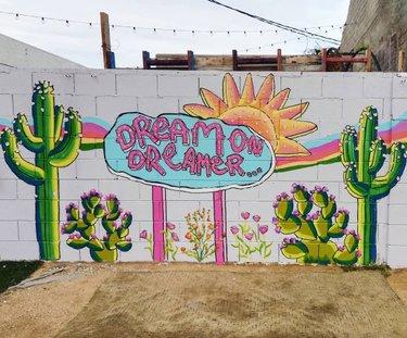 Where do your daydreams about Nevada adventures take you? 💭🌵🌸 ••• 📷: @marketinthealley 🎨: @maryonadventures #TravelNevada #NevadaArt #ThatNevadaLife #TravelFromHome #DTLV #NVArt #LasVegasMurals #Nevada #DesertDweller