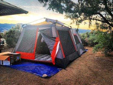Camping was peaceful last night #washoevalleynv #washoelakestatepark #nevadastateparks #travelnevada #campingduringquarantine #coretents core_equipment