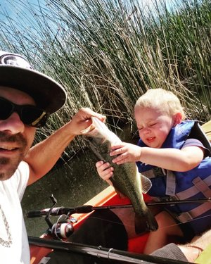 We have multiple catches this week in celebration of National Go Fishing Day yesterday. Thank you to everyone who sent us pictures. Buy your fishing license at ndowlicensing.com and get your family out there. You may be our next Catch of the Week! #nationalgofishingday #firstcatch #fishnevada #ndow #getoutside  Picture 1: William Sullivan and his adorable son Rylan had a successful National Go Fishing Day Picture 2: Larry Hanson caught this 8.3 lb. striper at Lake Mohave near Willow Beach Marina. His grandson Ryan Hanson is pictured with him. Picture 3: Jeremy Jaroboe(jurmer) sent in this picture of his daughter's first catch at Boulder City Pond. What a great first catch! Picture 4: Brianna Wickware(b_ri_e) made this catch at Illipah Reservoir