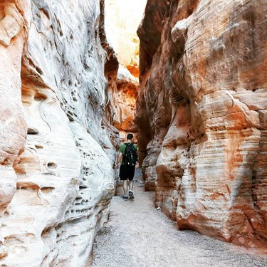 This slot canyon is an easy and gorgeous hike along the White Domes Loop in the Valley of Fire State Park (only just over an hour from Vegas), and you won't be fighting crowds unlike at other better-known slot canyons. . . . #valleyoffire #valleyoffirestatepark #lasvegasnevada #desert #slotcanyon #canyons #instadesert #femaletravelbloggers #ladiesgoneglobal #wonderfuldestinations #beautifuldestinations #exploretocreate #visualsoflife #earthpix #themoderndayexplorer #roamtheplanet #lifeofadventure #theglobewanderer #seetheworld #awesomeearth #travelpassport #traveldiary #wanderlust #lonelyplanet #earthcapture #places_wow #instatravel #instatrip #travelgram #travelnevada
