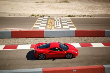 Who says Mondays have to be blue?  #SpeedVegas | #Ferrari | #SuperCar | #LasVegas | #Vegas