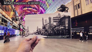 Comparing a photo taken around the 1930s or 40s, to present day 2020. A lot has changed on #fremontstreet since then... #canonphotopaper#movies#movie#flick#film#travel #vegas#lasvegas#lasvegasweekly#nvfilmoffice#nevadafilm#nevadafilmoffice#filmnv#filmnevada#olloclip#iphoneonly#cinema#vegasmovies#wanderlust#igerslvo#LiveTravelChannel#capturethescene#history #fremontstreet #nvfilm #filmnv #history #gambling #shareyourstudio