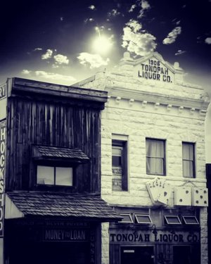 """The Harlot House sits above the Tonopah Liquor Company bar, and it used to be an active brothel in the 1920s. It is no longer a brothel, but allegedly you may see some ghost gals during your stay in this building that used to be a part of Nevada's """"Red Light District.""""   Do you love a good ghost story?"""