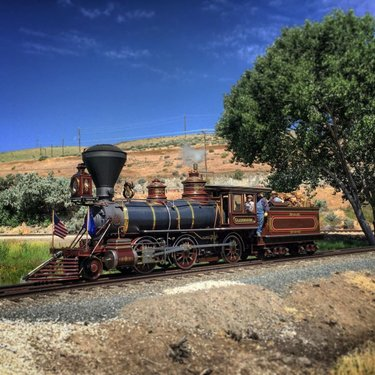 """The Glenbrook - a wood burning, 2-6-0, 36"""" narrow gauge steam locomotive built for the Carson and Tahoe Lumber and Fluming Company and then served on the Nevada County Narrow Gauge Railroad.  🚂Baldwin Locomotive Works