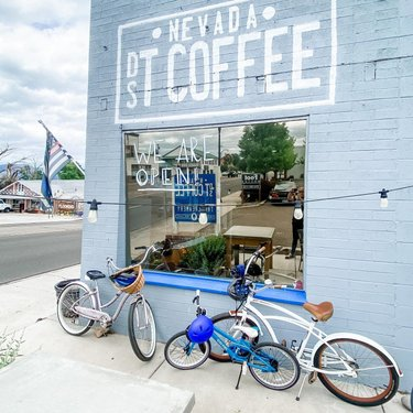 Enjoyed a long bike ride and a stop at the local coffee shop. Delicious ice cream and coffee!