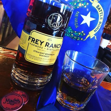 Frey Ranch Straight Bourbon Whiskey here at Machi's Saloon & Grill. Come taste a little of Nevada. freyranchdistillery #freyranchdistillery #freyranchbourbon #machisspirits #elkoeats #elkofoodies #comedrinkatmachis #gitchabonein #comeeatatmachis #nevadamade #nevadagrown #dfmi #dontfencemein #fallonnv #battleborn