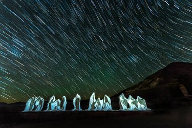 Good Friday to all! The Last Supper statues by Albert Szukalski, with Star Trails at the Goldwell Open Air Museum at the Rhyolite Ghost Town. The Star Trails add showers of blessing to these amazing plaster sculptures, which amazingly have endured the extreme over 100 degree heat in this desert! Taken during our Star Trails and Light Painting in Death Valley Night Photography Workshop with creativephotoacademy, and Instructors cassonephotography and redheadkatrina. This was one of our last pictures of the Workshop! 🌠👬👬👬👬👬👬📷❤🙏  ============================== STACKED Instagram.com/christineanneho Facebook.com/christineanneho   Nikon D810  Nikkor 14-24mm f/2.8  14mm at f/2.8   June 20, 2020 between 10:57 PM - 11:34 PM, for a total of 37 minutes. 15 pictures stacked and edited in Lightroom and Photoshop.  For the first image, 20 seconds at f/2.8, and ISO 4000.  For all of the 14 Star Trails pictures, 90 seconds at f/2.8 and ISO 400. ============================= #deathvalley #deathvalleynationalpark deathvalleynps #deathvalleylove #nationalparklife #rhyolite #rhyoliteghosttown #goldwellopenairmuseum goldwellmuseum #lastsupper #creativephotoacademy creativephotoacademy #paulsphoto pauls.photo #cpadvjune2020 #astrophotography #startrails #startrailchasers startrailchasers #ig_startrails #onlyinnevada only_in_nevada  #exploredesertcities exploredesertcities #onceupon_the_earth #raw_nightshots #raw_longexposure #raw_community_member #longexposure_shots #nightshooters  #abc7eyewitness #cbsla #nbcla #nikond810 #nikkor1424 #nikonnofilter #nikonlove