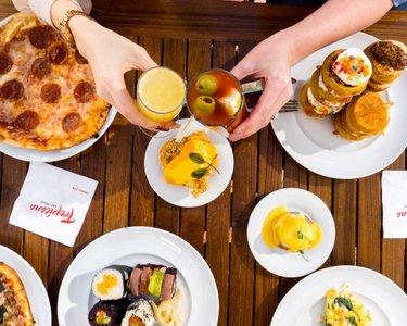 Let's have a toast to the endless possibilities at the Savor Brunch buffet. . . . . . #troplv #tropicana #tropicancalasvegas #mychoicerewards #vegas #lv #lasvegas #vegasbound #vegaslocal #lasvegasblvd #travelnevada #vegasvacation #lasvegasfoodie #vegasfoodie #vegasfood #lasvegaseats