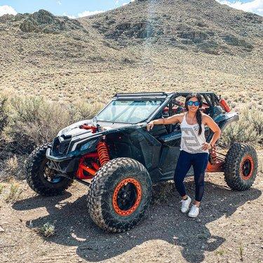 Sunshine mixed with a lil bit of dirt 🤙🏽 #offroad #adventure #purebliss #maverickx3 #canam #canamx3 #utv #sxs #desert #trailride #homemeansnevada #springtime #dirt #momlife