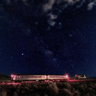 For an experience like this just go to the ghost_train_of_old_ely NNRY.com and book your seat on the #Sunset, #Stars, and #Champaign #Train. Our #nightsky does not disappoint. #visitelynevada #getelevated #mountaintown #nvtoadtrip #familyfun #familyvacation #astrotourism #space #epic #awesome #vacationideas #photooftheday by sportsworldely travelnevada ponyexpressnevada