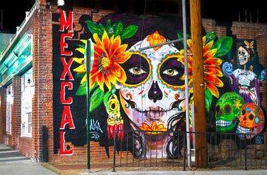#diadelosmuertos #dayofthedead #festive #celebration #sugarskull #downtown #mexcal #vaka #renoisrad #renoisartown #muralart #mural #localartist #supportlocalartists #alltheprettythings #travelnevada #nvmag #reno #nevada #ilovenevada #culture #nightcapture #nightphotography #nikonphotography #nikonphotographer
