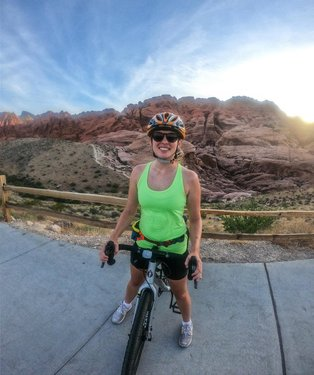 """I was going to say something along the lines of """"don't worry, this isn't going to become a biking account,"""" but honestly biking is just so freaking fun AND takes you to some pretty insane places soooo just let me have my fun until I can finally start backpacking again (still looking at you, 5.8 earthquake 😑). Toured Red Rock by bike for the first time this weekend and it was such a cool and new way to see a park that I know so well! (unfortunately ride was almost ruined by strava losing my ride stats, but don't worry, all was well after a manual entry and a short stack of pancakes at ihop) 🌵"""