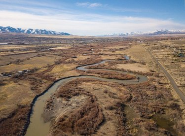 Photo of the day: Humboldt River in Winnemucca. Love those twists and turns! Posted by Art Director Kippy Spilker. #nvmag #nevada #humboldtriver #winnemucca