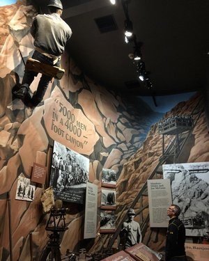 Day 3: Our hotel, Boulder Dam Hotel, is also home to a museum on the building of the dam and the creation of the city to house all the employees. It was helpful to go through the museum before heading out to Hoover Dam and hiking the former railroad tracks - built to move supplies for the dam construction. #travelnevada #nevada #bouldercity travelnevada