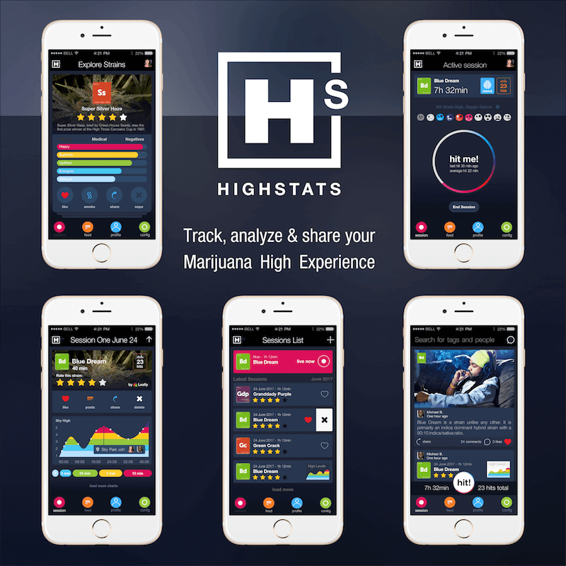 crowdspring case study - high stats mobile app design