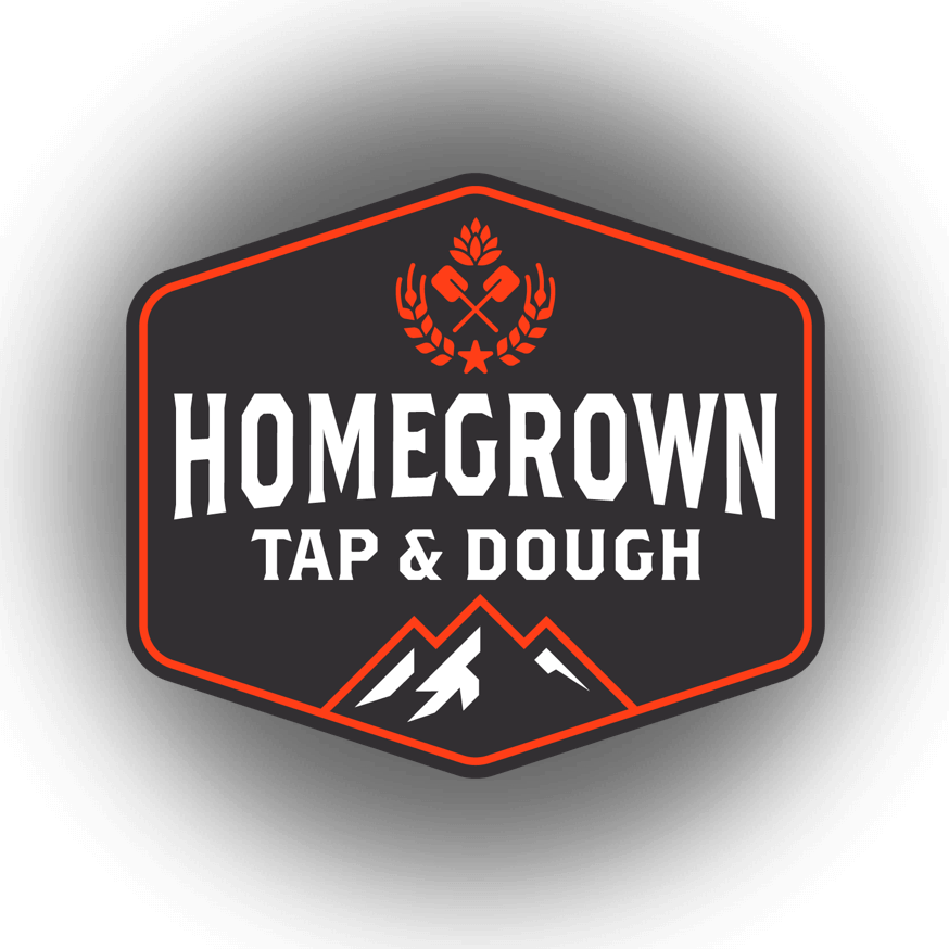 Homegrown Tap & Dough logo by airborne