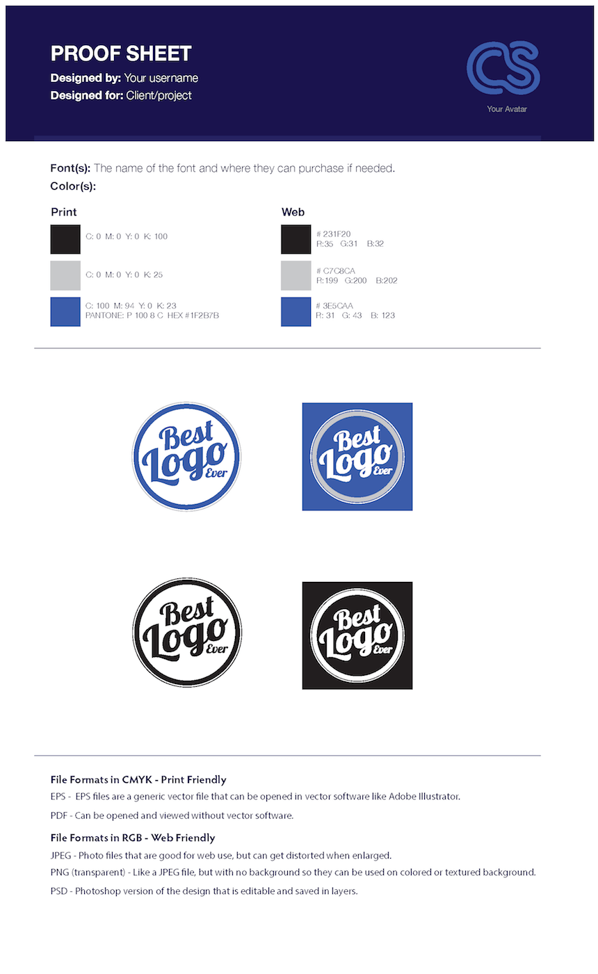 logo proof template