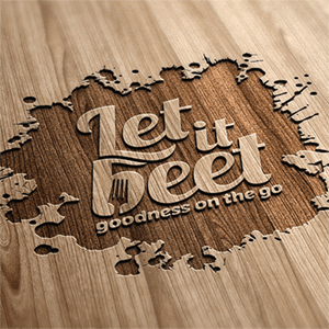 logo design - Let it beet - variation 9