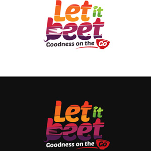 logo design - Let it beet - variation 4