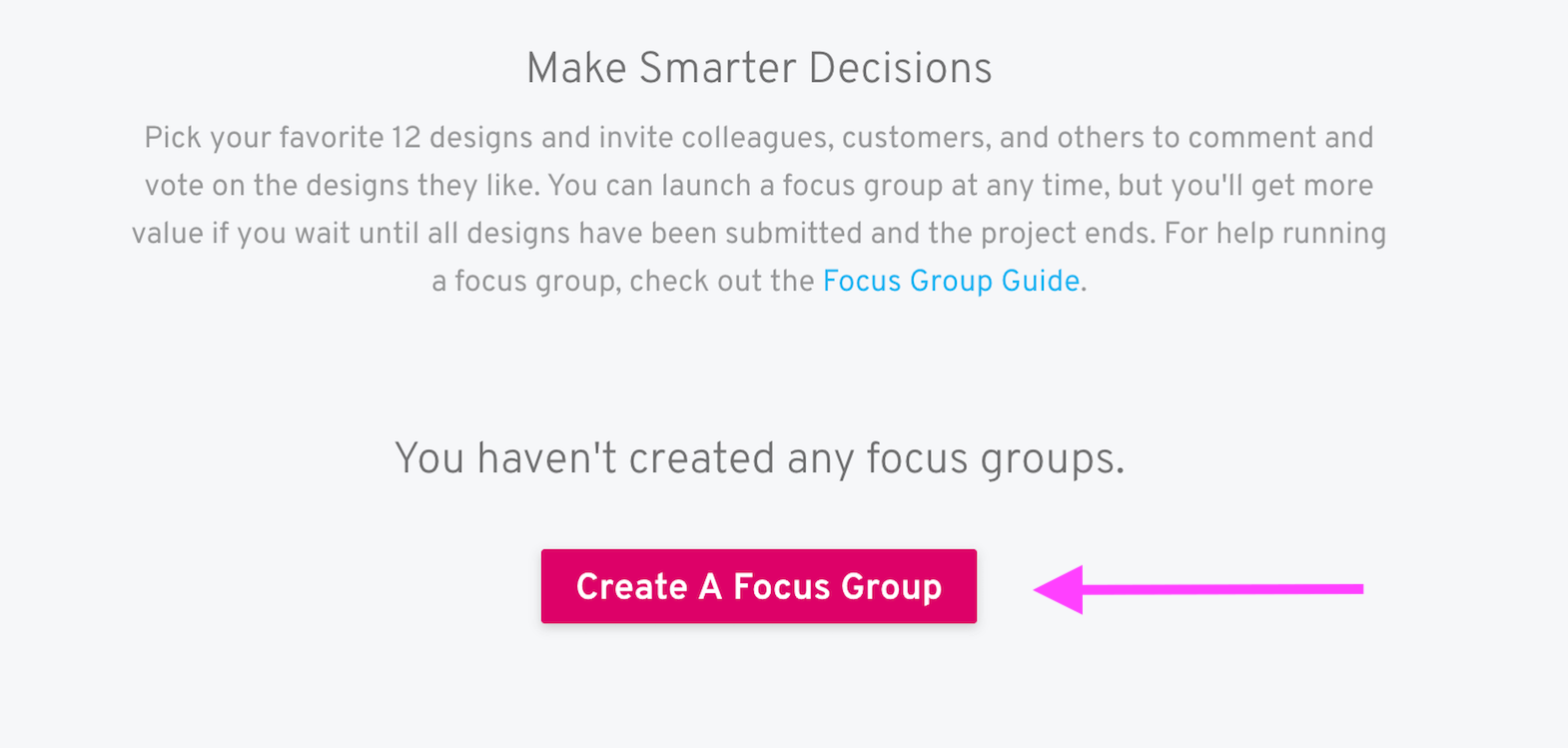 create focus group