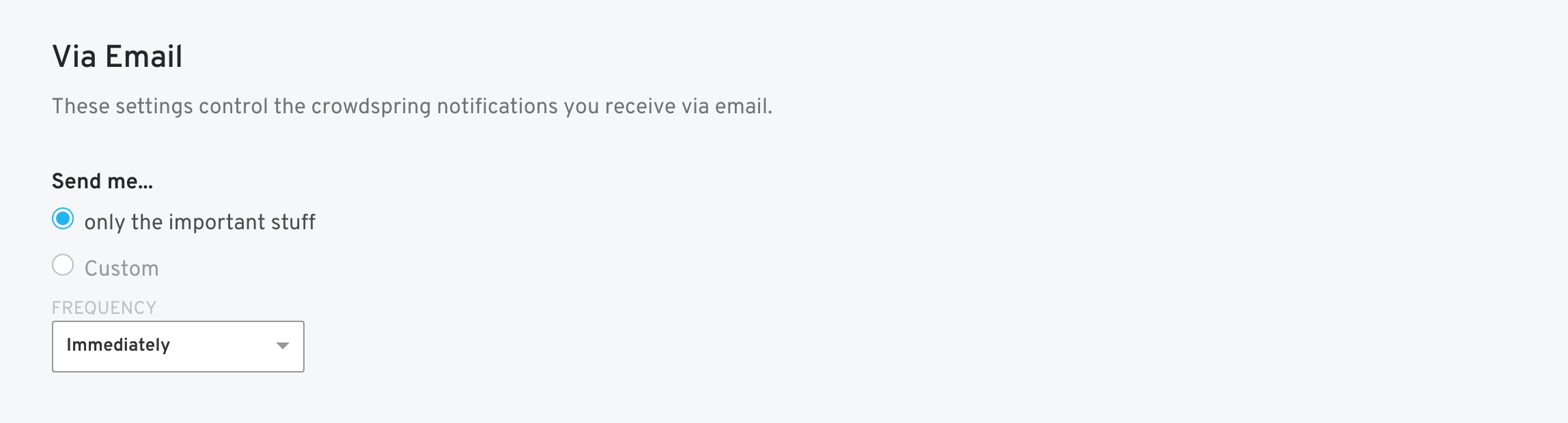 notification email settings