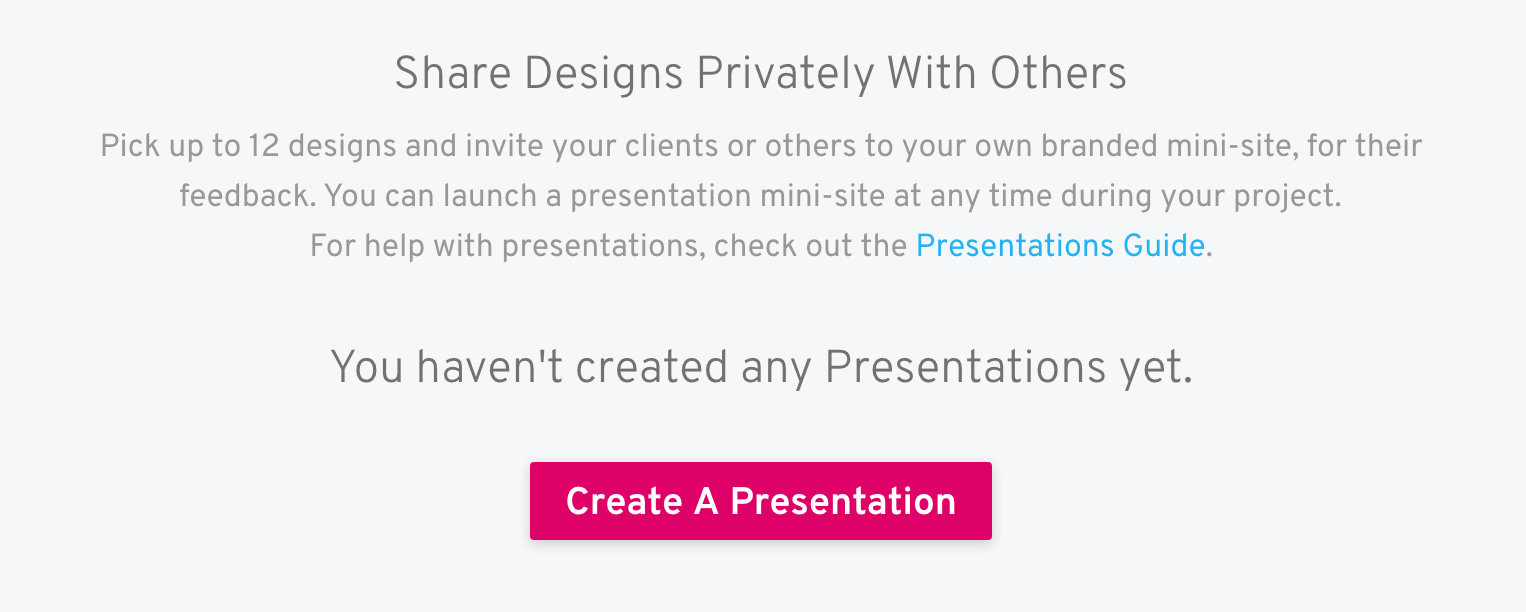 create presentation screen
