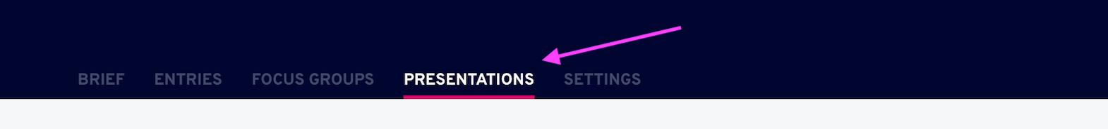 presentation tab dashboard