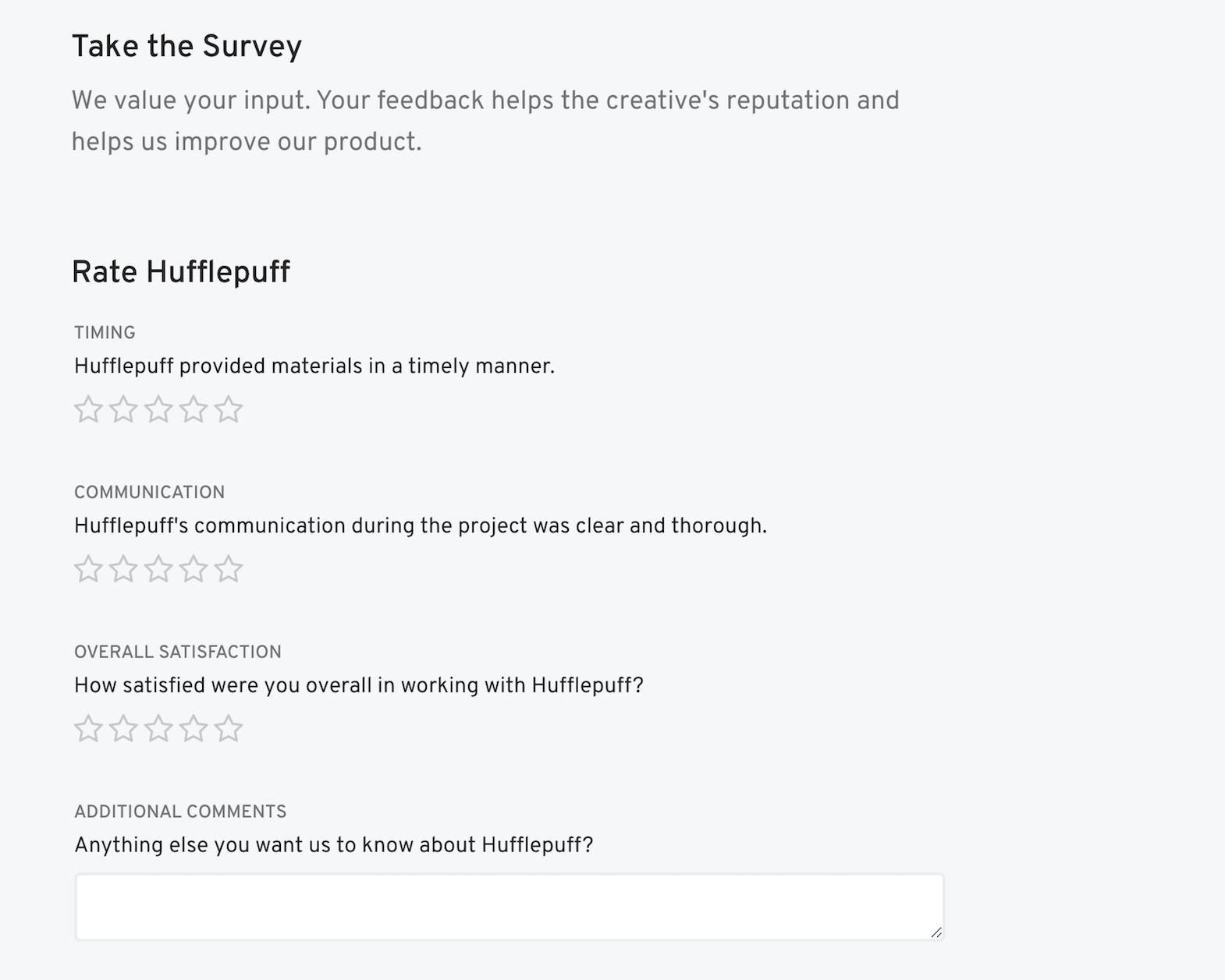 survey client