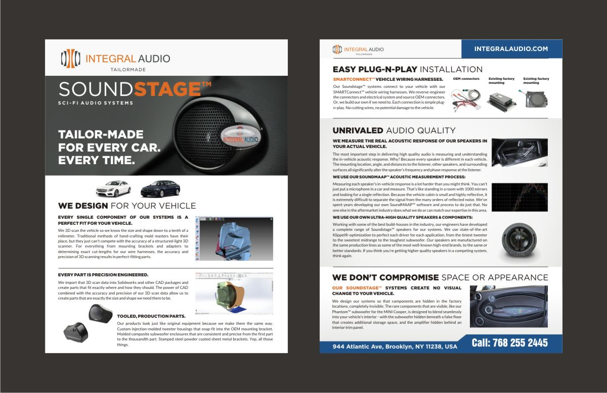Brochure For Automotive Audio Company A Business Advertising Wiring Harness Cad Project By Kevinabennett Crowdspring